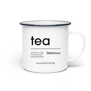 tea [tee] noun - hug in a mug - Emaille Tasse-3