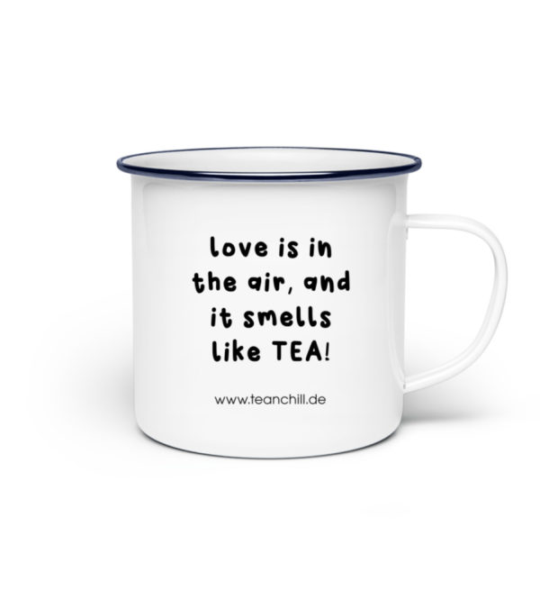 Love is in the air - Emaille Tasse-3
