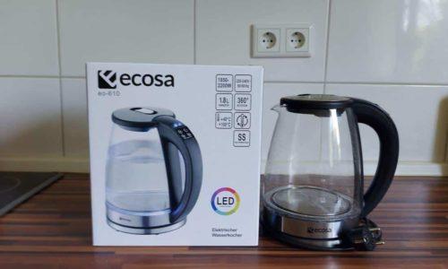 Ecosa Wasserkocher EO-610 Produkttest & Erfahrungsbericht